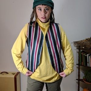 Vintage silk striped vest